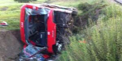 Accident de l'autocar du club de football du Chabab Atlas Khénifra : 29 blessés