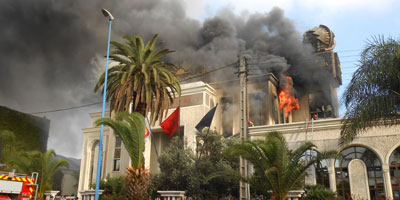Incendie au siège du groupe Addoha à Aïn Sebaà¢