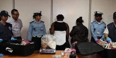 Aéroport Mohammed V : Arrestation de deux Capverdiennes en possession de près de 6 kg de cocaïne
