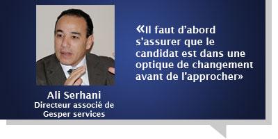 Ali Serhani : Â«Il faut d'abord s'assurer que le candidat est dans une optique de changement avant de l'approcher»