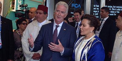 Arrivée de la Princesse Lalla Hasna au Pavillon du Maroc en Italie