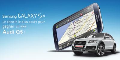 Samsung Galaxy S4, le chemin le plus court pour gagner un 4×4 Audi Q5