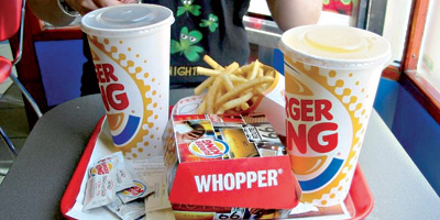 Burger King dans les aires de repos de Shell