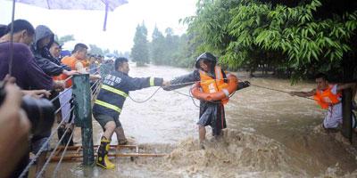 Cinq personnes portées disparues dans des inondations au sud-ouest de la Chine