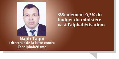 El Habib Nadir : Â«Seulement 0,3% du budget du ministère va à l'alphabétisation au Maroc»