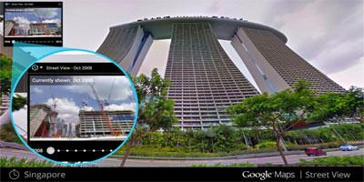 Remontez le temps avec Google Street View !