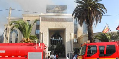 Vidéo : Incendie au siège du groupe Addoha à Aïn Sebaà¢