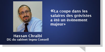 Hassan Chraibi : Â«La coupe dans les salaires des grévistes a été un événement majeur»