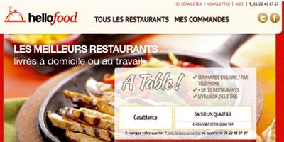 Hellofood.ma, un nouveau service pour commander vos repas à domicile en quelques clics