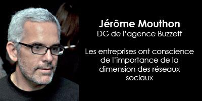 Les réseaux sociaux : Entretien avec Jérôme Mouthon, DG de l'agence Buzzeff
