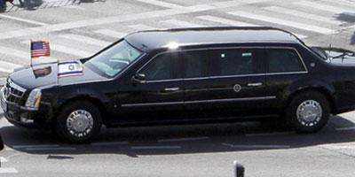 La limousine d'Obama tombe en panne au premier jour de sa visite en ISRAEL