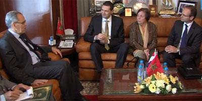 En Vidéo – Abdeltif Loudyi s'entretient avec le ministre croate de la défense