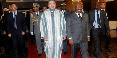 Le Roi Mohammed VI quitte le Gabon