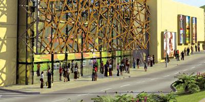 A qui appartient le terrain abritant le centre commercial Borj Fez ?