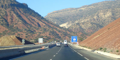 Imntanout- Agadir : Autoroute gratuite en raison de la coupure sur la nationale N 8