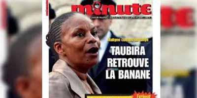 «Minute» condamné à 10 000 euros d'amende pour sa Une associant Taubira à un singe