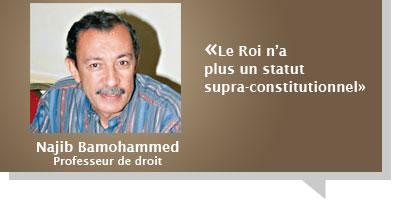 Najib Bamohammed : Â«Le Roi n'a plus un statut  supra-constitutionnel»