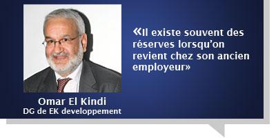 Omar El Kindi : Â«Il existe souvent des réserves lorsqu'on revient chez son ancien employeur»