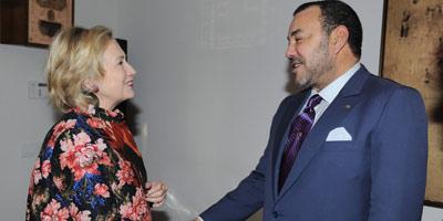 Le Souverain s'entretient avec Hillary Clinton à New York