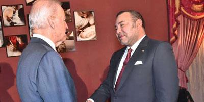 Le Souverain reçoit Joe Biden à Fès