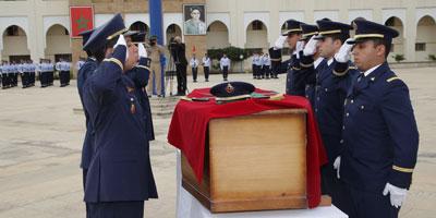 Salé : honneurs militaires funèbres rendus à Yassine Bahti, le pilote du F16
