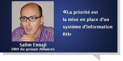 Salim Ennaji : Â«La priorité est la mise en place d'un système d'information RH»