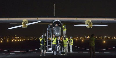 L'avion Solar Impulse décolle de l'aéroport de Ouarzazate à destination de Rabat