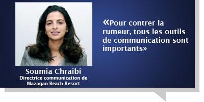 Soumia Chraibi : «Pour contrer la rumeur, tous les outils de communication sont importants»