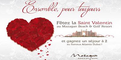 Offre spéciale St Valentin à Mazagan