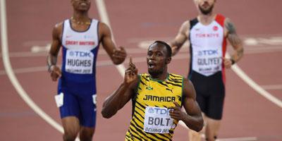 Le Jamaïcain Usain Bolt champion du monde du 200m