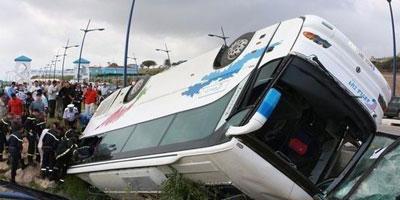 Accident d'autocar sur l'autoroute Casa-Settat : 8 morts et 18 blessés