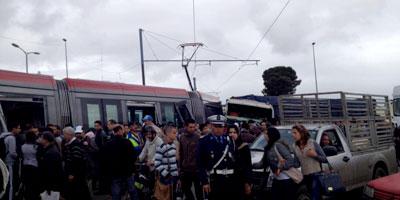 Perturbation du trafic routier à Casablanca à cause d'un accident du tramway