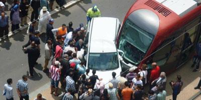 Une Voiture légère est entrée en collision avec le tramway de Casablanca