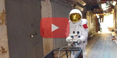 Avez-vous vu cet astronaute à Casablanca ?