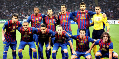 Lionel Messi et ses coéquipiers du FC Barcelone au Maroc
