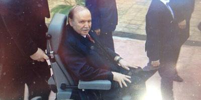 En Vidéo – Algérie : Bouteflika a voté en fauteuil roulant.