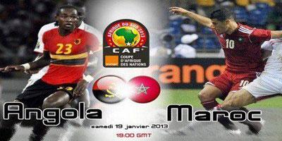 CAN 2013 : Angola – Maroc,  Le Onze de départ