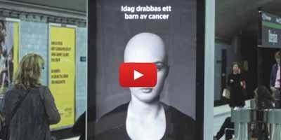 Cancer chez l'enfant : une campagne de sensibilisation originale en Suède !