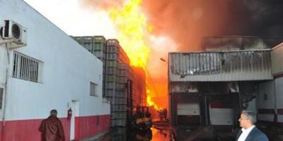 Incendie dans une usine à Casablanca : importants dégà¢ts matériels..