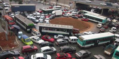 La circulation dans les villes est insupportable pour 44% des Marocains