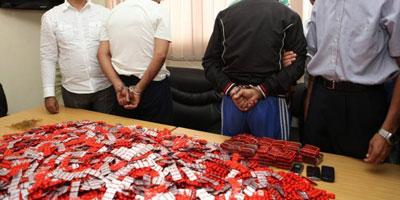 Oujda : Saisie de 2 400 comprimés psychotropes et 5 kg de chira en provenance d'Algérie