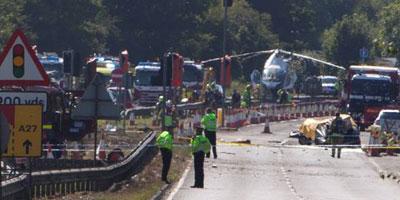 Au moins 11 morts dans le crash d'un avion dans le sud de l'Angleterre