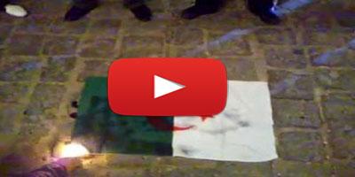 En Vidéo – Un drapeau algérien brûlé par des supporters français