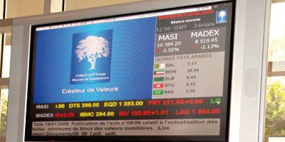 Bourse : Le 1er semestre s'est soldé par un repli de 1%