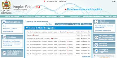E-gov : emploi-public.ma, 900 000 visites en quatre mois