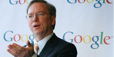 Le patron de Google Eric Schmidt à Paris sous la menace d'une taxe