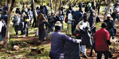 Des migrants subsahariens refoulés par l'Espagne