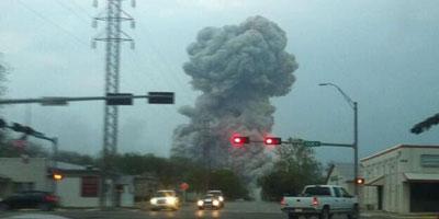 USA : Enorme explosion dans une usine d'engrais au Texas, crainte de nombreux morts