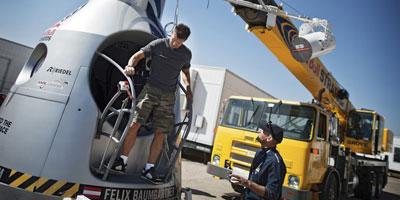 Le parachutiste autrichien Felix Baumgartner va-t-il franchir le mur du son en chute libre ?