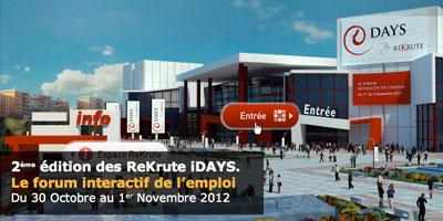 Forum Idays 2012: Rekrute.com promet  un environnement plus convivial